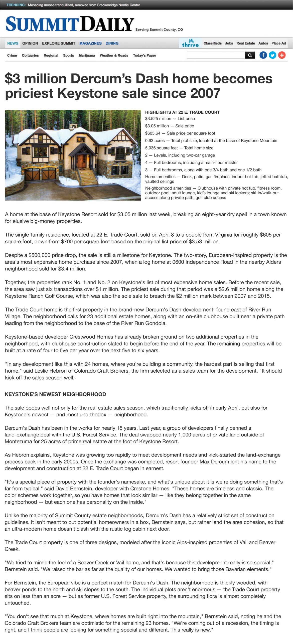 Latest News on Luxury Homes/Houses, Family Ski Resort in